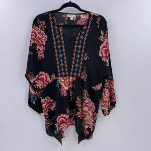 Style & Co floral embroidered blouse plus Sz 0X